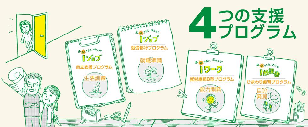 4つの支援プログラム
